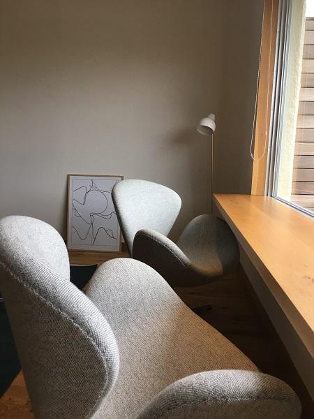 bbb haus101の客室にあるスワンチェア