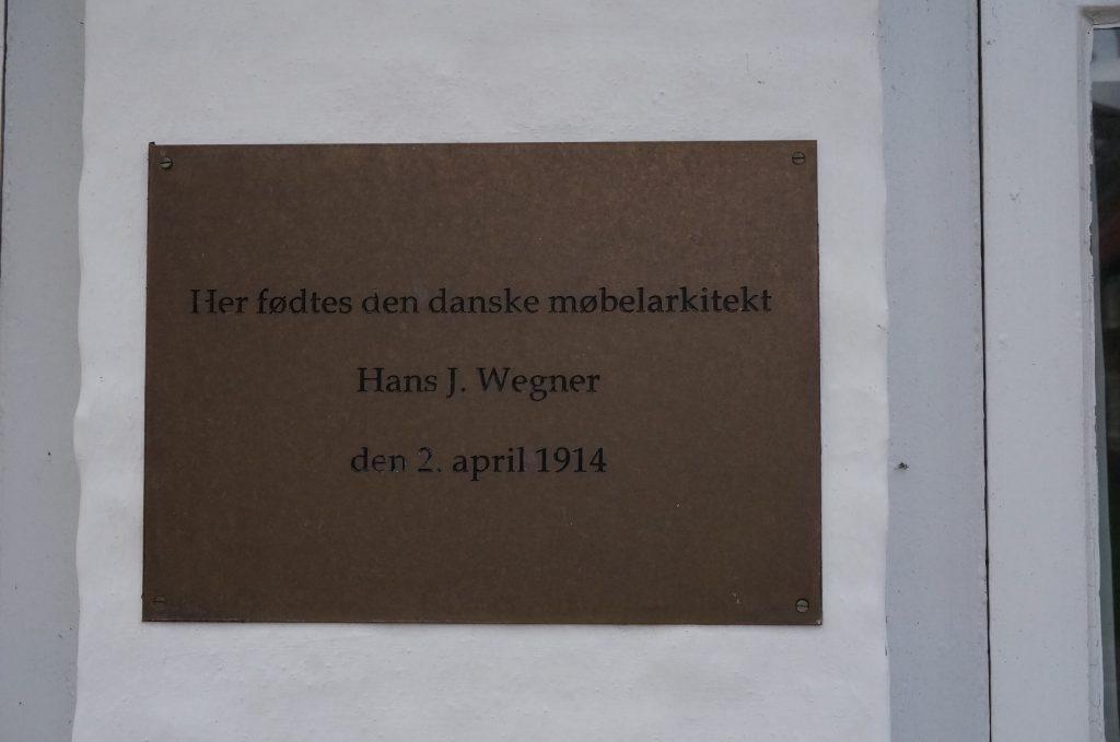 ハンス・ウェグナー生誕の碑