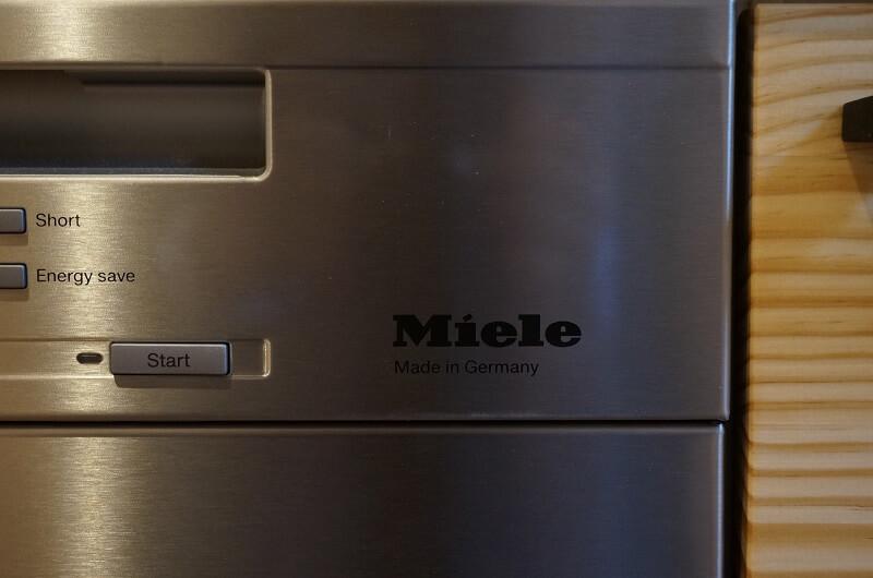 ミーレ食洗機のミーレロゴアップ写真