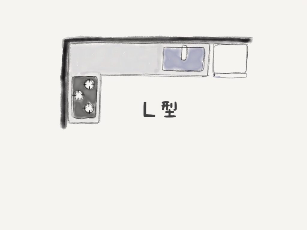 L型キッチンレイアウト