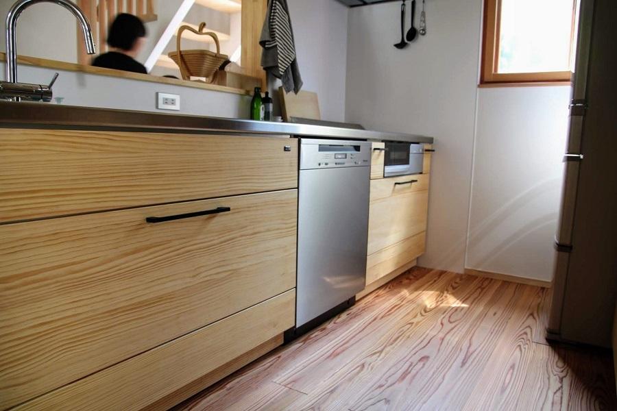 ウッドワンのキッチンにはミーレの食洗機も導入可能