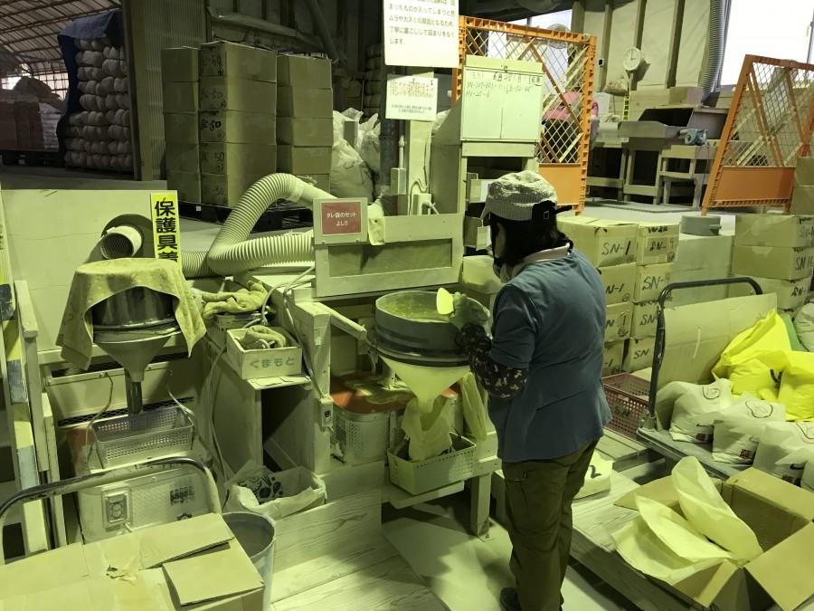 そとん壁の生産工場